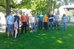 Gruppenbild von allen Beteiligten während der Mittagspause